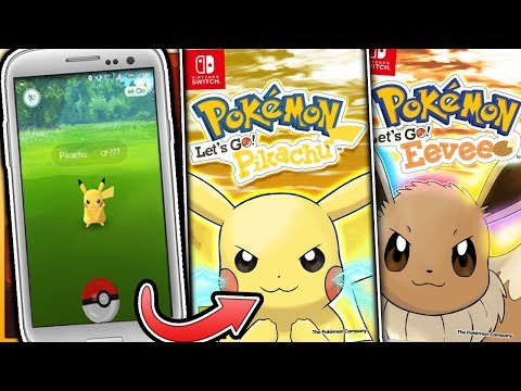 Pokemon Let's Go Pikachu & Let's Go Eevee - How Will Pokemon GO Work In The Pokemon Switch Games?