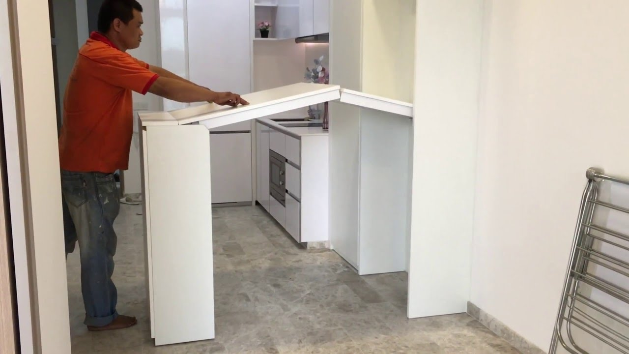 Hidden Foldable Kitchen Table