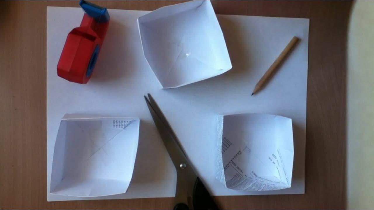 Kisten aus Papier basteln eine Anleitung YouTube
