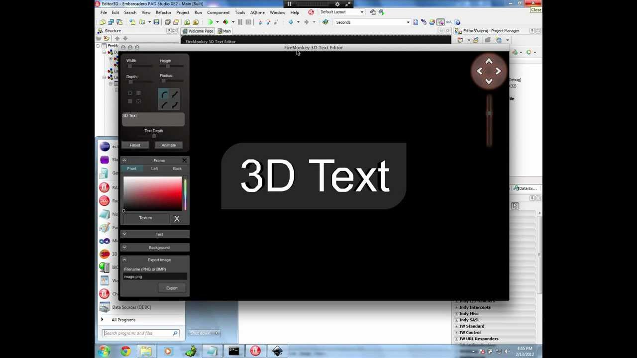 Building a firemonkey 3d text editor for windows and mac 3d editor