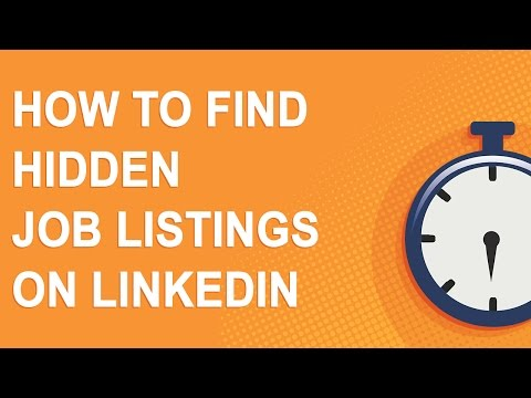 How to find hidden job listings on LinkedIn