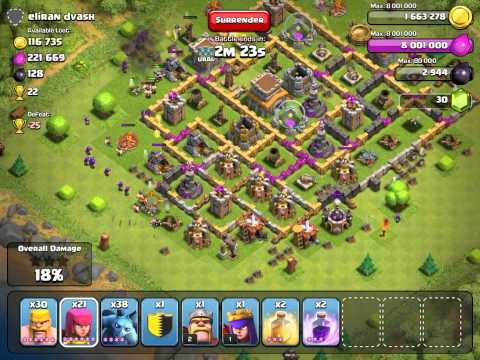 Clash of Clans Attacking the right buildings for gold