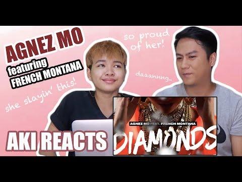 Aki Reacts    Agnez Mo - Diamonds ft. French Montana