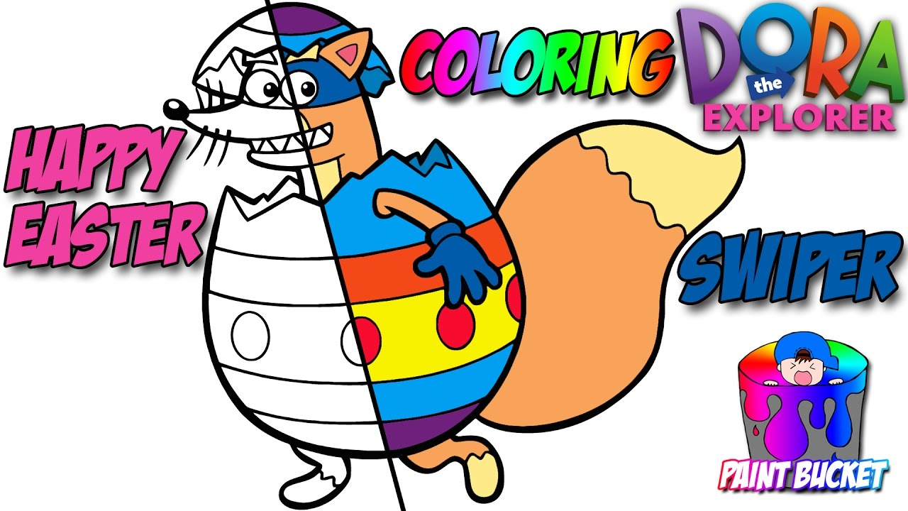 Dora The Explorer Easter Egg Coloring Page