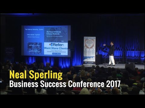 Neal Sperling addresses sell-out MYM Business Success Conference - Vancouver, Canada August 2017