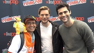 Dominic Sherwood and Matthew Daddario 'Shadowhunters' at NYCC 2016
