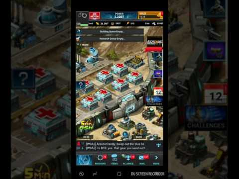 Mobile Strike - Getting rallied by the strongest guy on ms hands down with com capped!!!