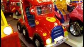 Falgas New York Fire Truck Kiddie Ride by Birmingham Vending.flv