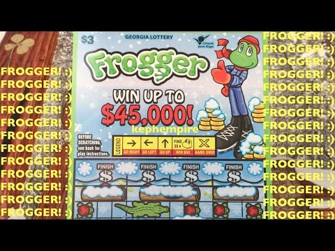 AWESOME WINTER FROGGER SCRATCHERS!!! Georgia Lottery Scratchers