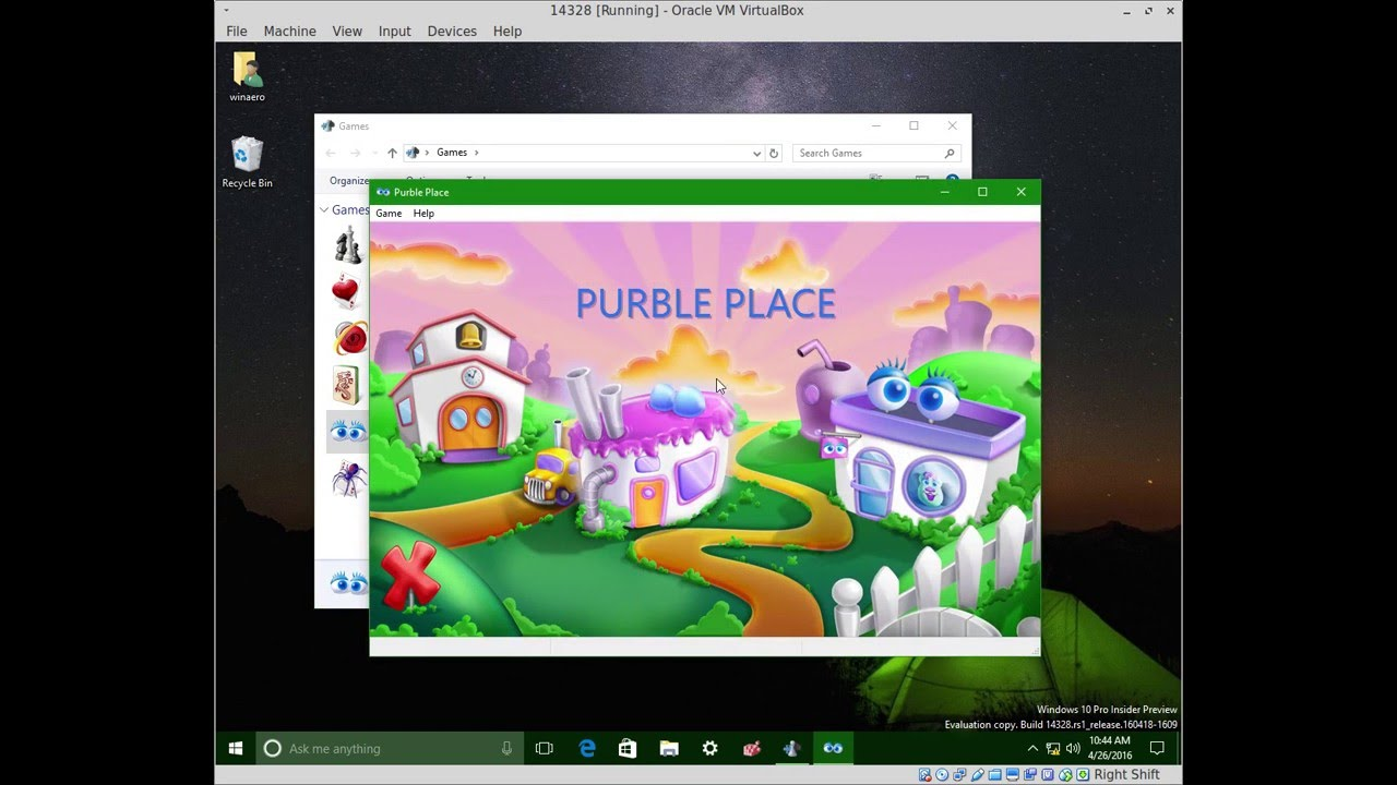 Windows 7 games for Windows 10 Anniversary Update and above