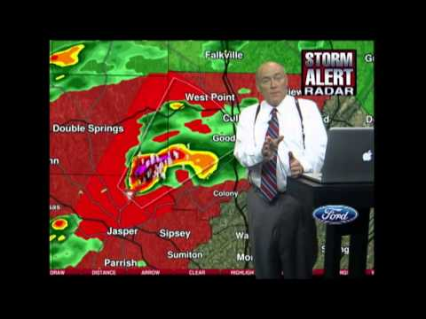 April 27, 2011 Historic Tornado Outbreak - ABC 33/40 Live Coverage 2:45pm-11:30pm