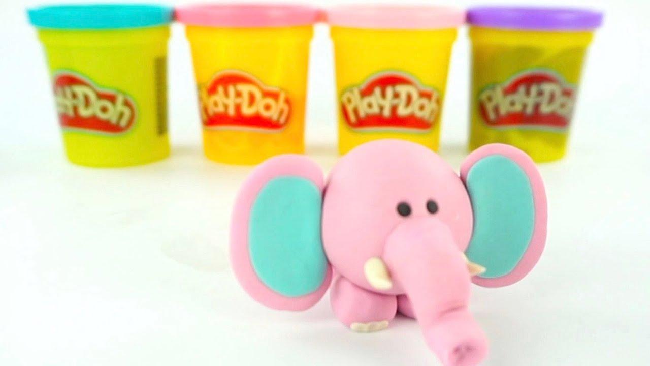 Учимся лепить слонёнка из пластилина
