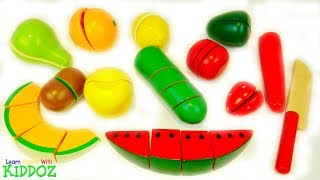 Learn Colors With VELCRO FRUIT & VEGETABLES