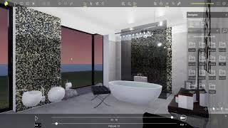 Fürdőszoba látványterv készítés az ARCHLine.XP Live-ban - Fias Berta terve