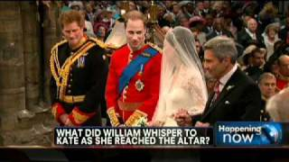 What Did William Whisper to Kate During Ceremony?