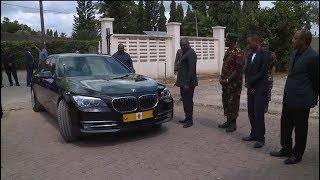 Video ya Rais Magufuli alivyoingia msibani kwa Meja Lesulie