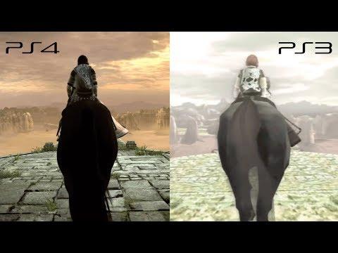 Shadow of the Colossus PS3 x PS4 Pro - Comparação (Graphics Comparison) TGS Trailer 2017
