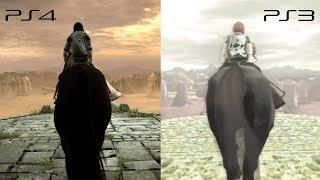Shadow of the Colossus PS3 x PS4 - Comparação (Graphics Comparison) TGS Trailer 2017