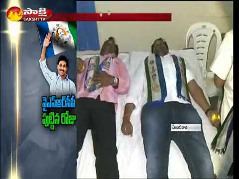YSRCP Formation Day celebrations at  Vijayavada in Krishna District