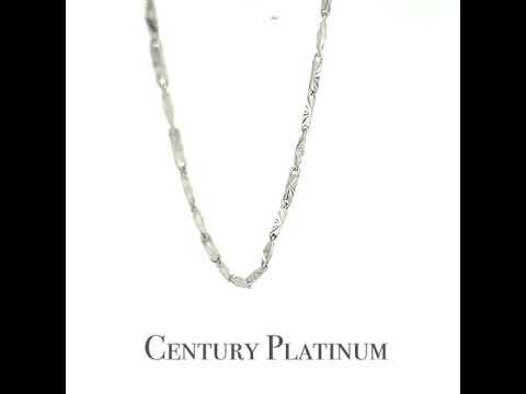 世紀白金【白金項鍊】可調式 元寶刻花 WNA024