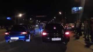 Subaru Impreza vs Mitsubishi Lacer Evolution и менты