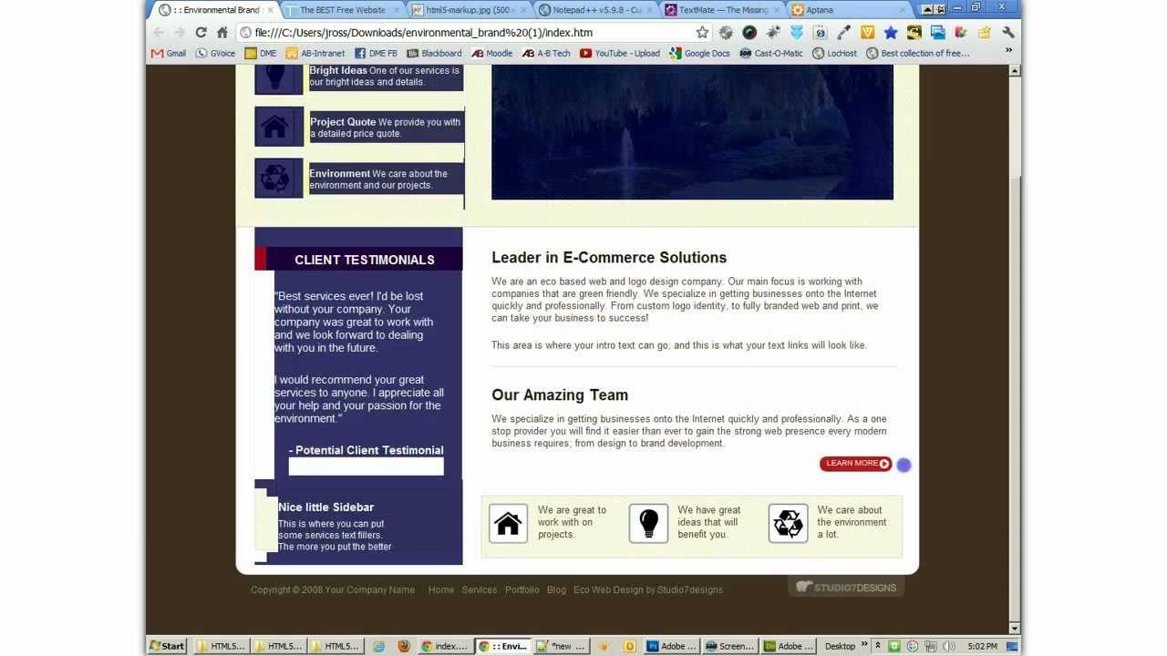HTML5markup. part2. basic markup - YouTube