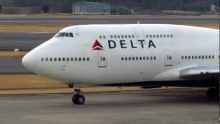 達美航空DELTA B747-400 N669US start up at NRT/RJAA