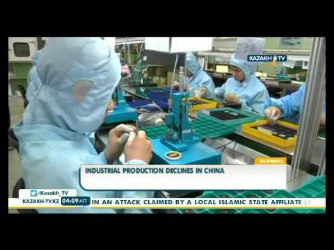 Industrial production declines in China