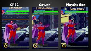 Comparação: X-Men vs. Street Fighter, CPS2 x Saturn x PlayStation (Hardware Real) (1080p 60fps)