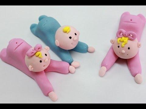 Cómo hacer bebes modelados en fondant o masa elástica. how to make ...