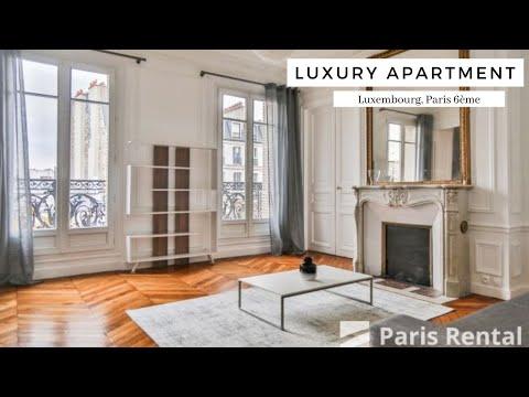 Luxury Paris Rental Apartment Tour   Luxembourg   Paris Rental - REF. 59806