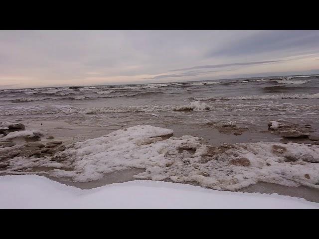 Рижское взморье, Юрмала, Рижский Залив зимой.