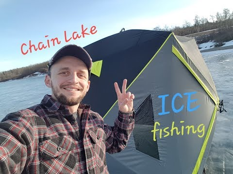 Ice Fishing For Rainbow Trout, Chain Lake AB | Winter Fishing Alberta