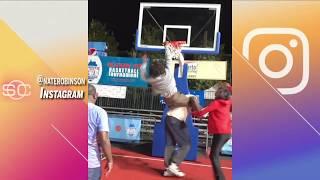 Nate robinson dunks over shaq on 'uncle drew' movie set | sportscenter | espn