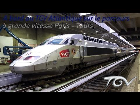VT#38 - A bord du TGV Atlantique sur le parcours à grande vitesse Paris - Tours