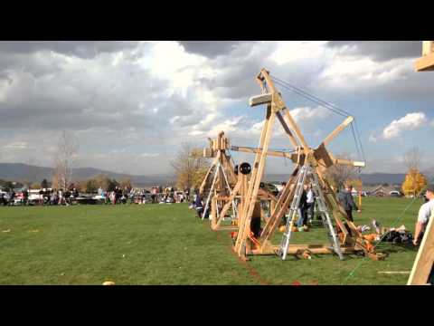 BYU ASME Merlin Trebuchet Pumpkin Throwing