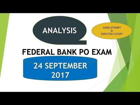 ANALYSIS - FEDERAL BANK EXAM - 24 SEPTEMBER 2017