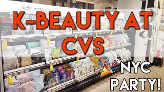 K-Beauty Haul at CVS Drugstores | NYC Peach Slices Party