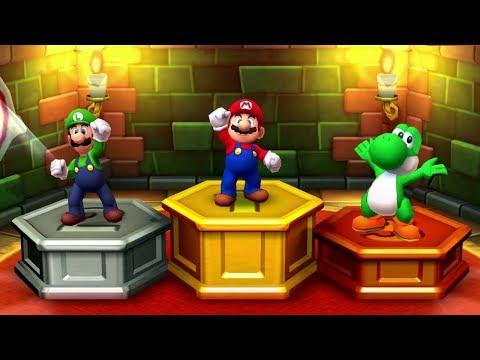 Mario Party Star Rush MiniGames - Mario Vs Luigi Vs Yoshi Vs Wario (Master CPU)