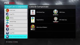 PES 2018 PS4 Option File 100% todas las Copas, Ligas y Bayern Munich