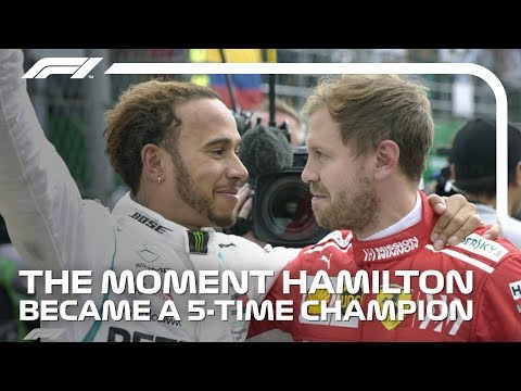 Lewis Hamilton Wins Fifth World Title | 2018 Mexican Grand Prix