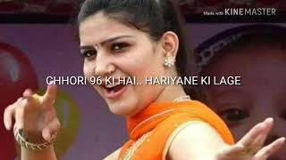 Sapna Chaudhary Latest Chhori 96 ki Hariyane ki Lage Download