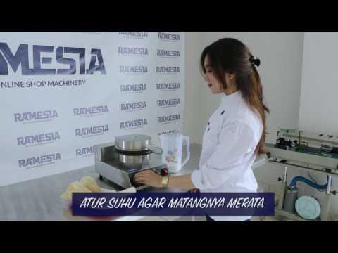 Cara Membuat Cone Waffle atau Corong Es Krim/ Ramesia Mesin/ Cone Maker