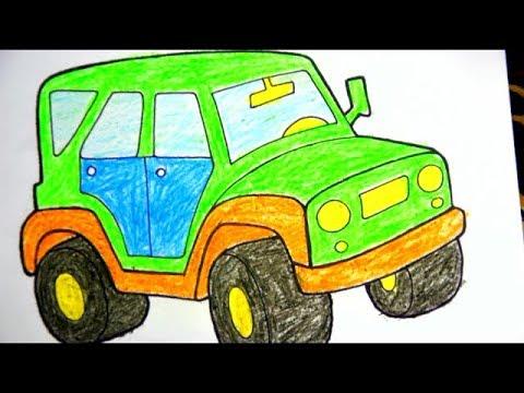 раскраска для мальчиков как раскрасить машину - YouTube