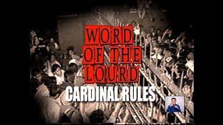 #WordOfTheLourd | CARDINAL RULES