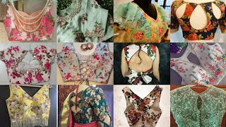 Top 90 most searched on google today floral print saree blouse design ideas//Floral Crop top Design/ screenshot 4