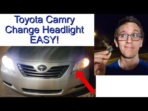 Toyota Camry 2007-2011 Headlight Replacement. 4 Minutes! Easy!