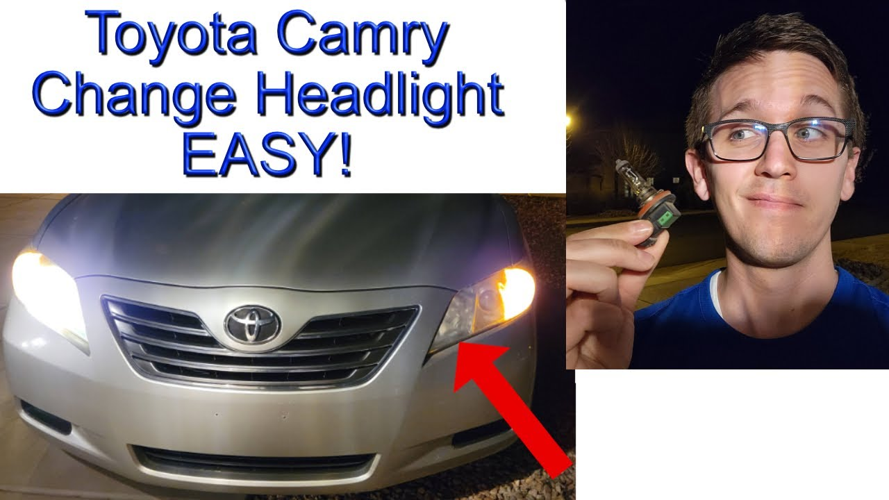 Toyota camry 2007 2011 headlight replacement 4 minutes easy youtube