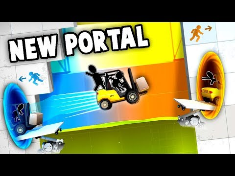 Total INSANITY!  HARDEST Portal Game Yet, NEW!  (Bridge Constructor Portal - Portal 3 Gameplay)