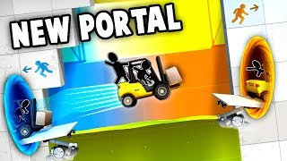 Total INSANITY!  HARDEST Portal Game Yet, NEW!  (Bridge Constructor Portal - Portal 3 Gameplay)